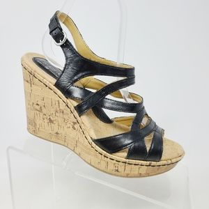 BOC Brygida Women's Strappy Platform Cork Wedge Sa